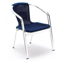 Vermont Cafe Chair - Blue Wicker