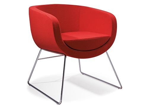 Red Burst Cube Lounge Chair