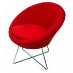 Red Burst Cone Chair
